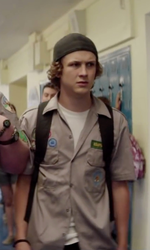 Logan Miller with Herschel Supply Co. Retreat Classic Backpack in Scout's Guide to the Zombie Apocalypse
