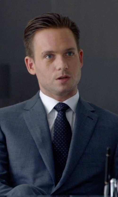 Patrick J. Adams with Isaia Diamonds Tie in Suits
