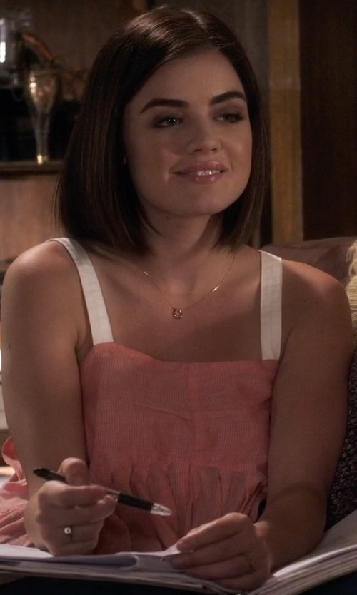 Lucy Hale with Kristen Elspeth Herkimer Diamond Quartz Pinky Ring in Pretty Little Liars