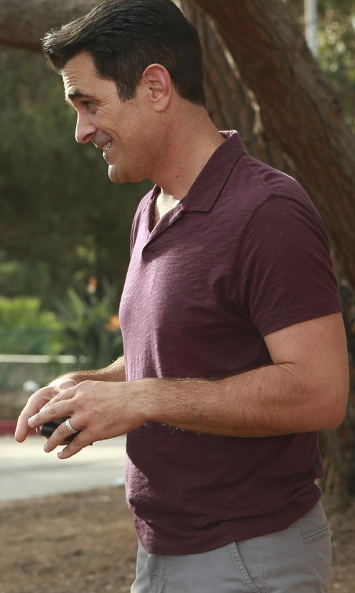 Ty Burrell with ATM Short-Sleeve Pique Polo Shirt in Modern Family