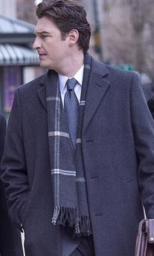 Toby Leonard Moore with The Men's Store at Bloomingdale's Plaid Windowpane Scarf in Billions