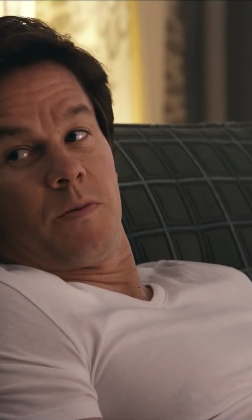Mark Wahlberg with Vince V Neck Tee in Ted