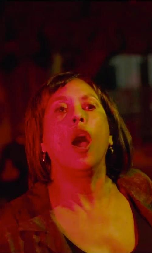 Angela Elayne Gibbs with David Lerner Scoop Neck Boyfriend Tee Shirt in Straight Outta Compton