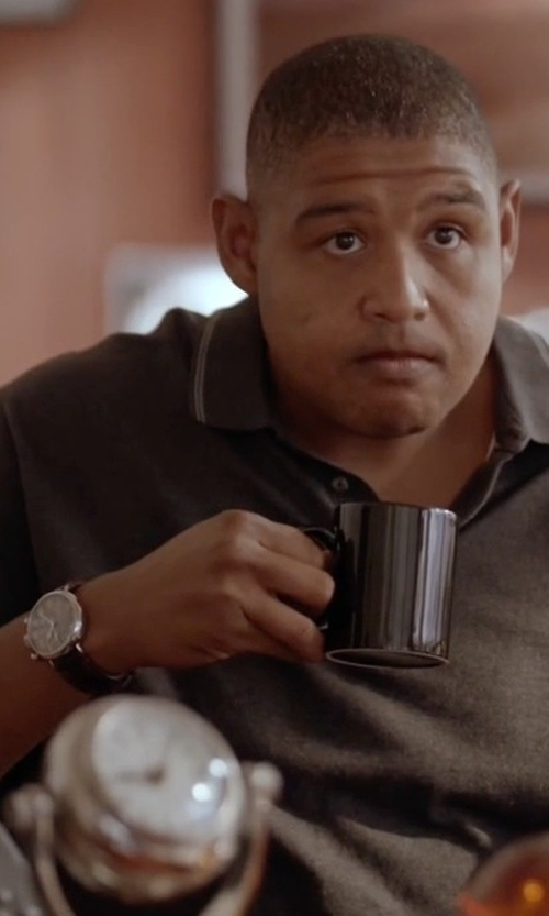 Omar Benson Miller with Bulova Leather Strap Watch in Ballers
