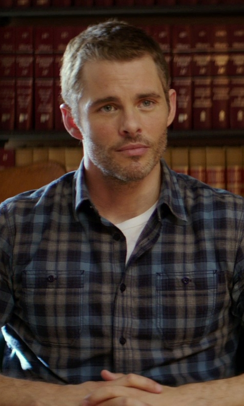 James Marsden with Apolis Crew Neck T-Shirt in The Best of Me