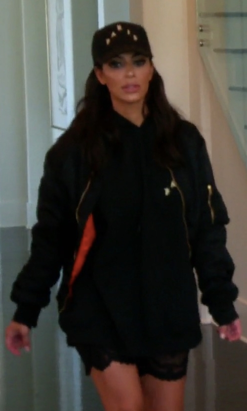 Kim Kardashian West with Vetements Nylon Bomber Jacket in Keeping Up With The Kardashians
