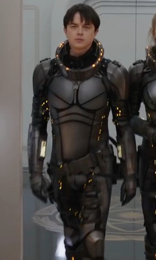 Dane DeHaan with Olivier Bériot (Costume Designer) Custom Made Space Suit (Valerian) in Valerian and the City of a Thousand Planets