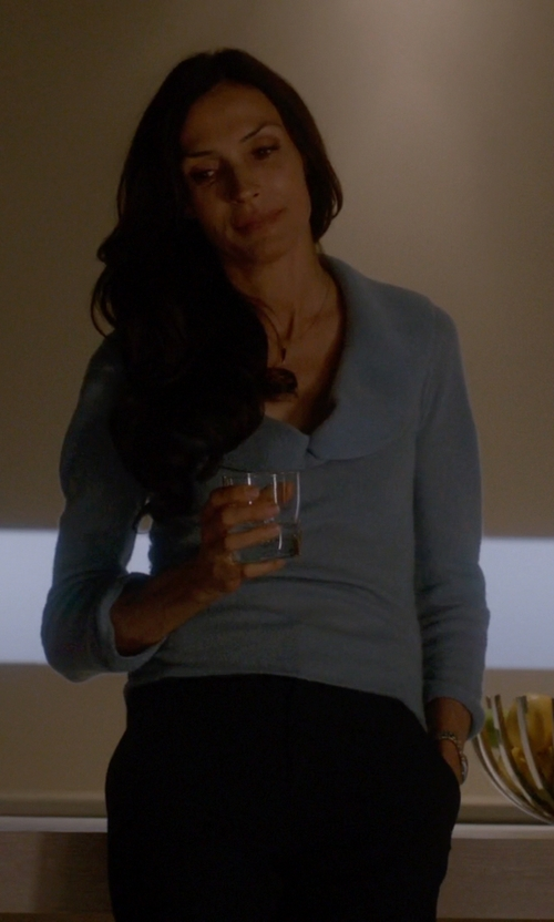 Famke Janssen with L.L. Bean Shawl Collar Pullover in How To Get Away With Murder