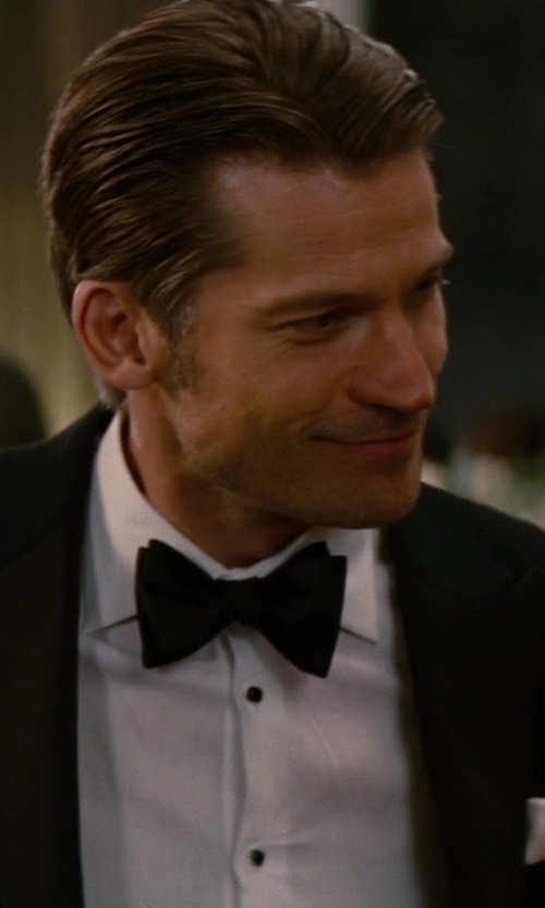 Nikolaj Coster-Waldau with Issey Miyake Textured Print Bow-Tie in The Other Woman