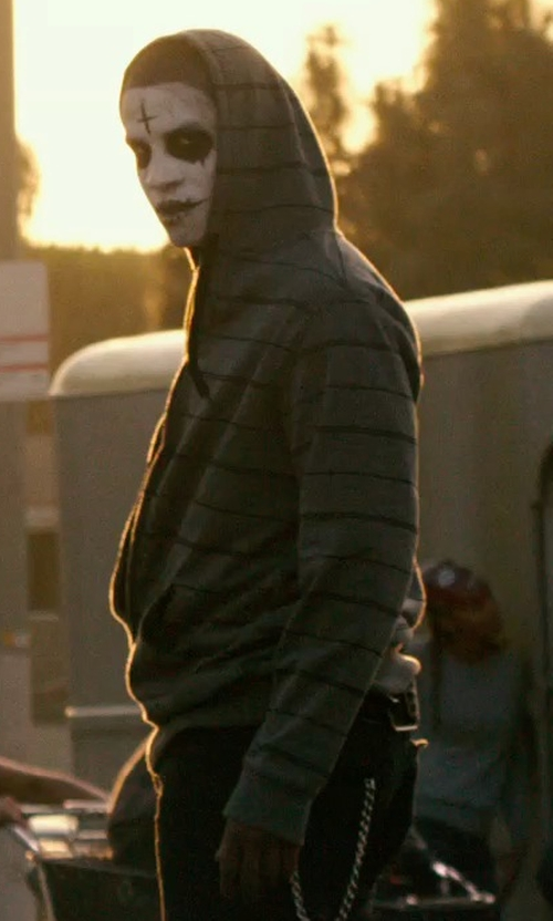 Unknown Actor with O'Neill Stripe Zipper Up Heavy Hoodie in The Purge: Anarchy