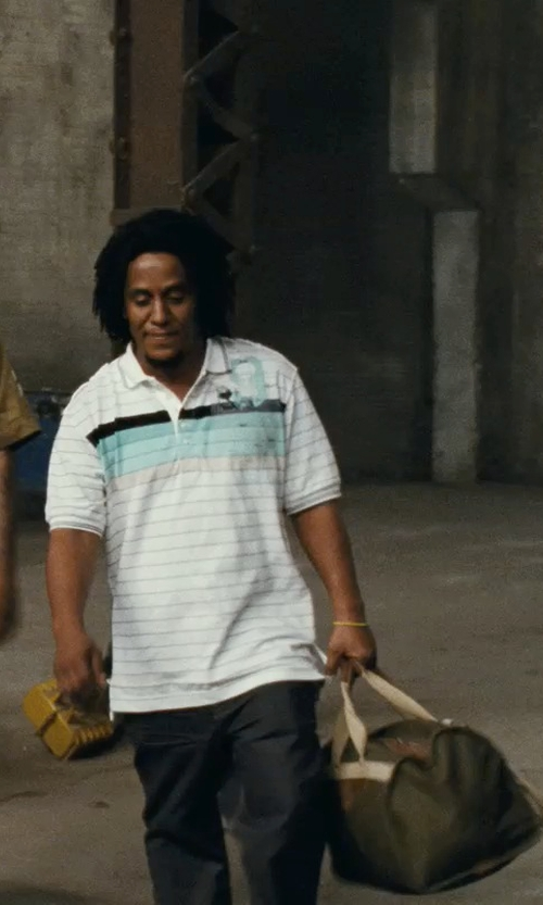 Tego Calderon with Ledmark Cotton Canvas Duffle Bag in Fast Five