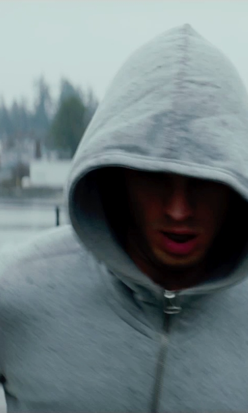 Jamie Dornan with Wings + Horns Zip Hooded Sweatshirt in Fifty Shades of Grey