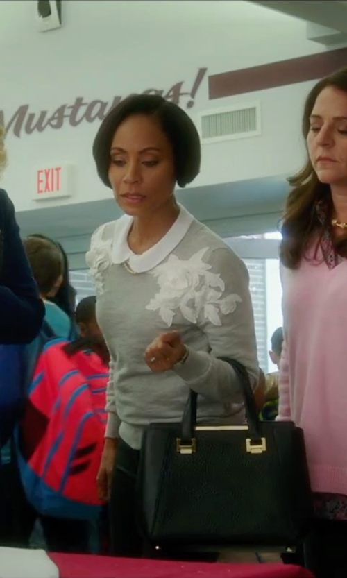 Jada Pinkett Smith with ChicWish My Flowers and Pearls Sweater in Bad Moms