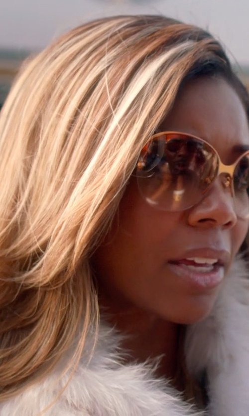 Gabrielle Union with Varascite Metal Sunglasses in Top Five