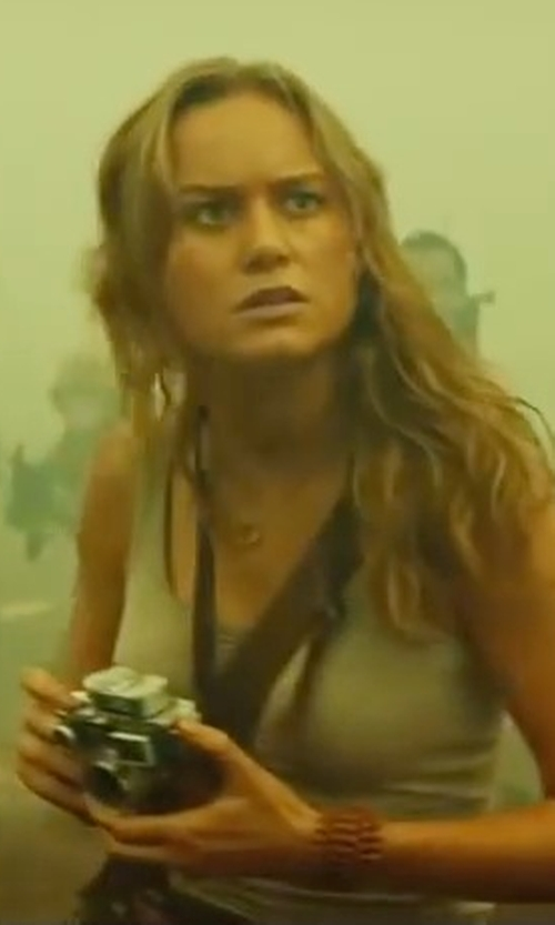 Brie Larson with Nike Balance Racerback Tank Top in Kong: Skull Island