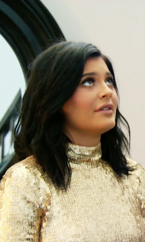 Kylie Jenner with Shady Zeineldine Sequin Mermaid Gown in Keeping Up With The Kardashians
