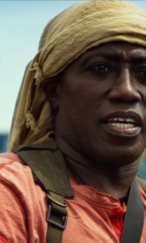 Wesley Snipes with Vince Lightweight Slub Henley in The Expendables 3