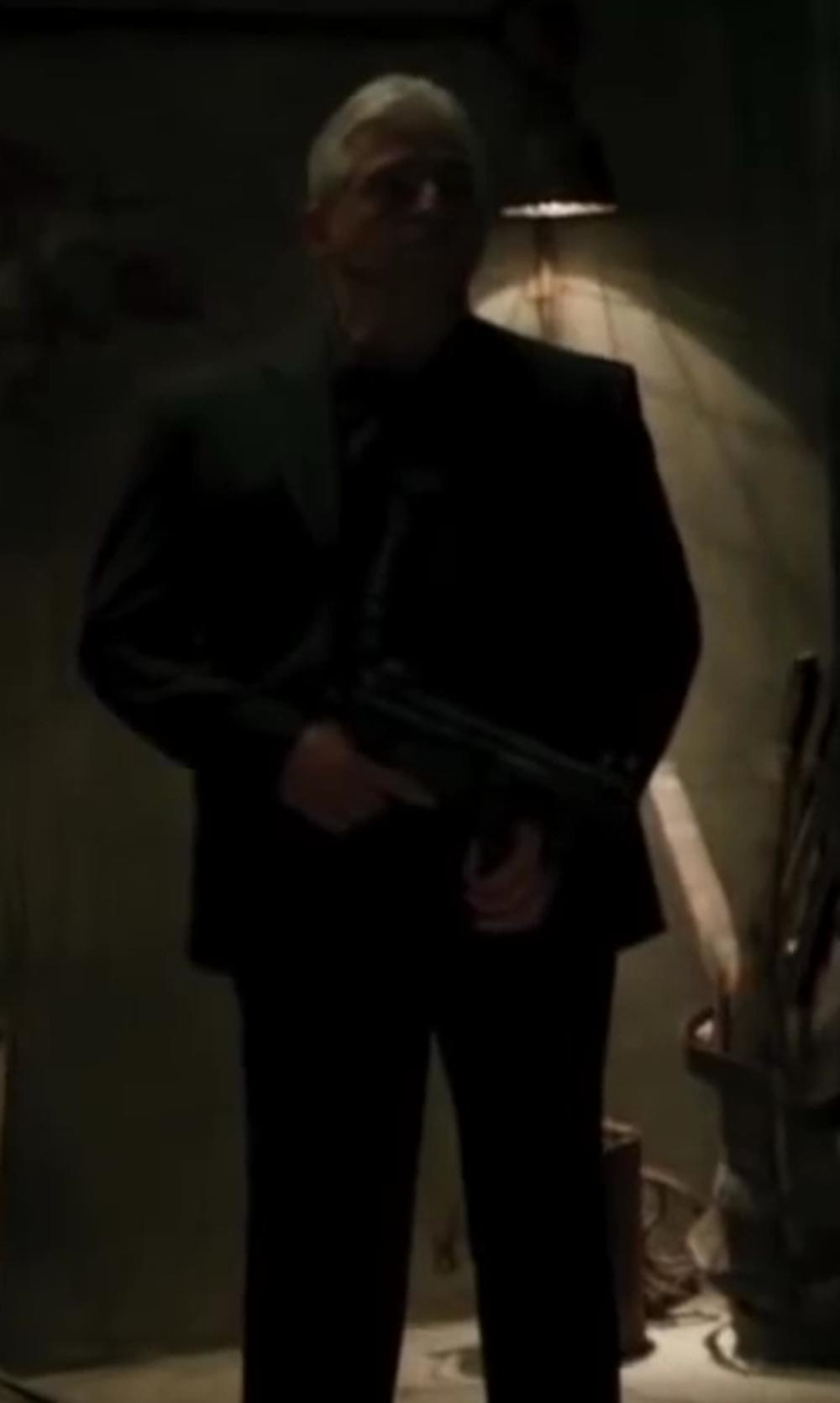 Unknown Actor with Theory Weller Suit Jacket in Iron Man 3