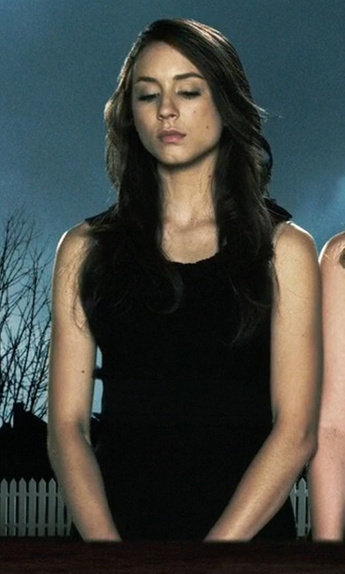 Troian Bellisario with Comfy Vienna Long Tank Dress in Pretty Little Liars