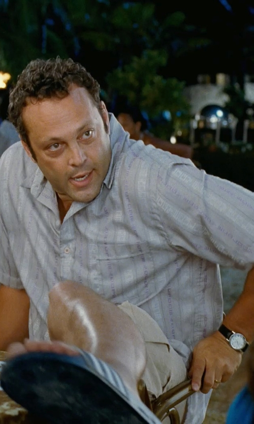 Vince Vaughn with Hugo Boss Boss Black Chronograph Watch in Couple's Retreat