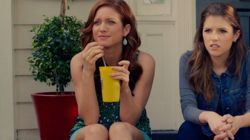 Brittany Snow with Joie 'Neely' Silk Tank in Pitch Perfect 2