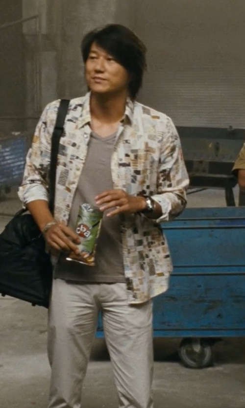 Sung Kang with Siviglia Casual Pants in Fast Five