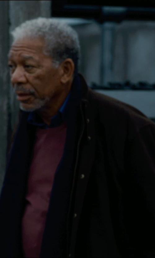 Morgan Freeman with Maison Martin Margiela Sweater in The Dark Knight Rises