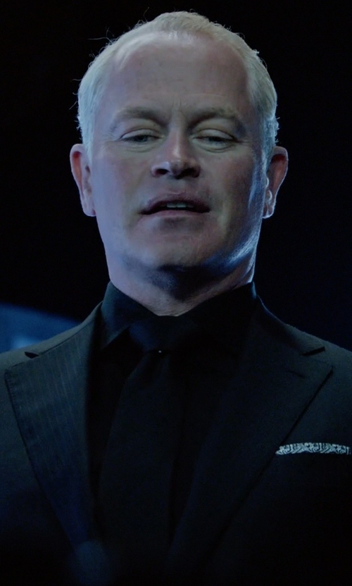 Neal McDonough with Band Of Outsiders Faille Neck Tie in Arrow