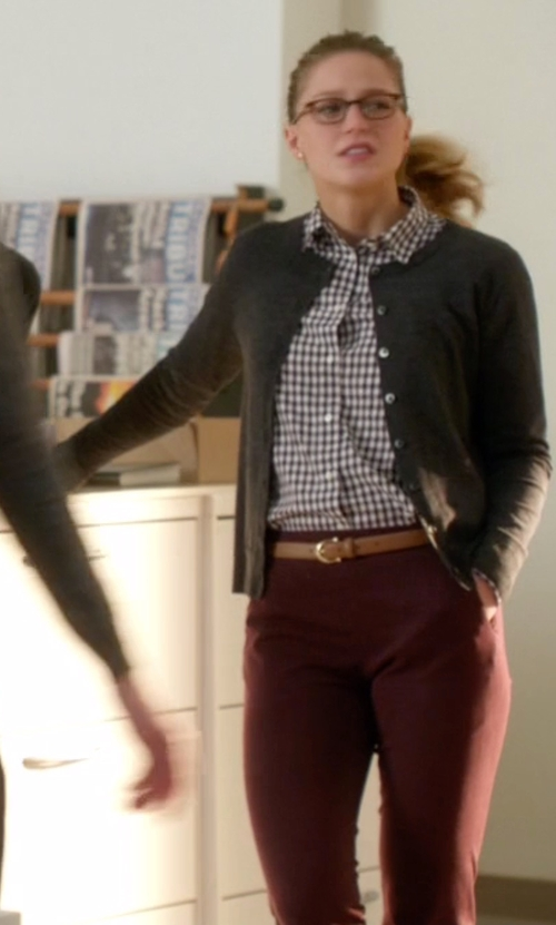 Melissa Benoist with Twin-Set Jeans Casual Pants in Supergirl