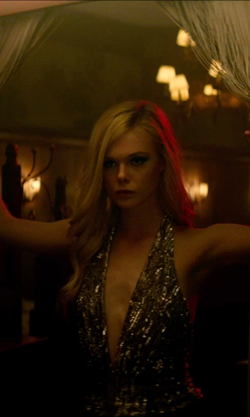 Elle Fanning with Dress the Population 'Tracy' Sequin Minidress in The Neon Demon