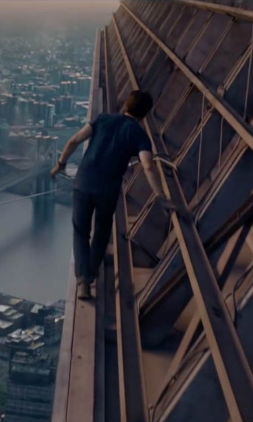 Joseph Gordon-Levitt with Jean Machine Straight Leg Jeans in The Walk