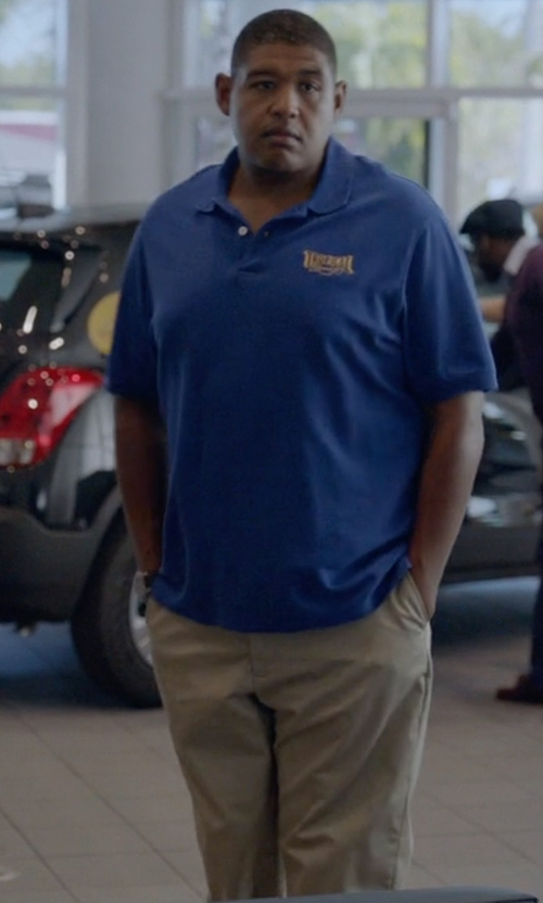 Omar Benson Miller with AG Tailored Straight Leg Chinos in Ballers