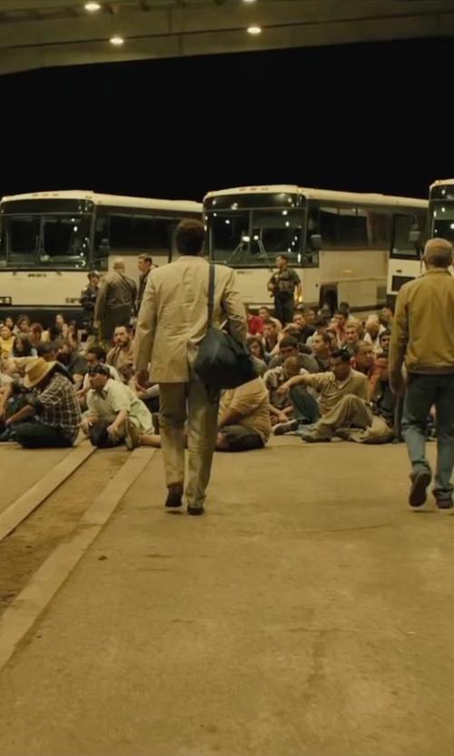 Benicio Del Toro with Proenza Schouler 'Ps1' Messenger Bag in Sicario