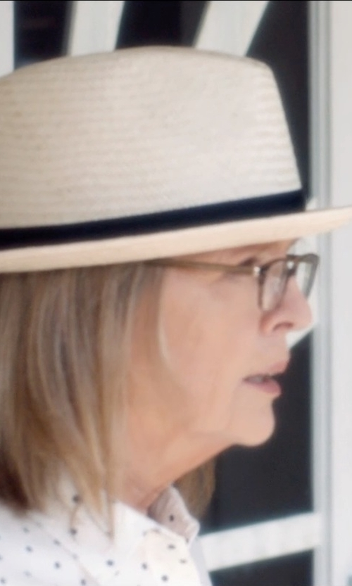 Diane Keaton with BCBGeneration Women's Full Of Heart Fedora in And So It Goes