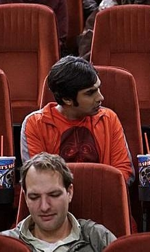 Kunal Nayyar with G.H. Bass & Co. Full-Zip Mock-Neck Arctic Fleece Jacket in The Big Bang Theory