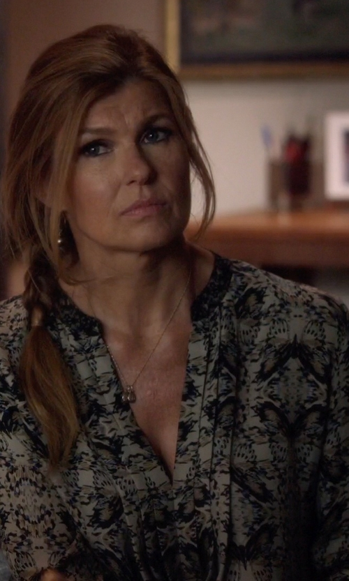 Connie Britton with L'agence Lauren Blouse in Nashville