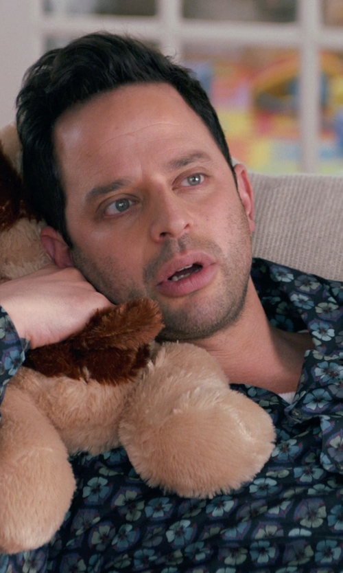 Nick Kroll with Esprit Crew Neck T-Shirt in Adult Beginners