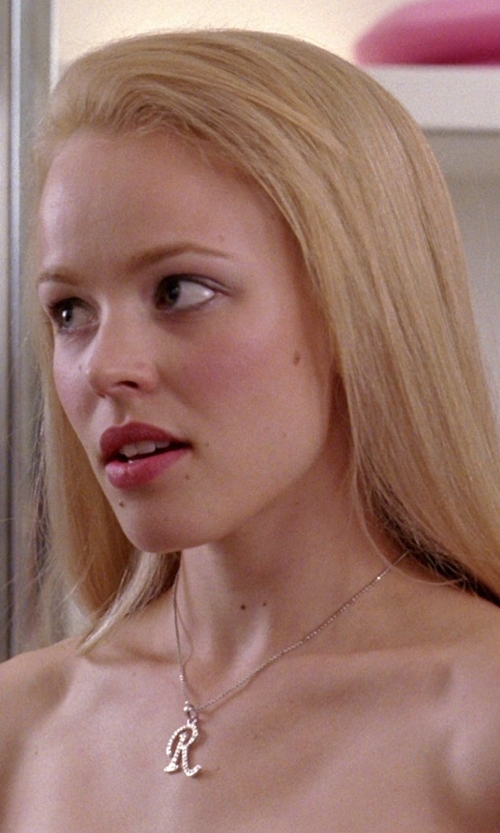 Rachel McAdams with Kohl's Sterling Silver Diamond Accent Initial Pendant in Mean Girls