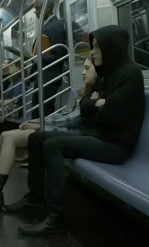Rami Malek with Calvin Klein Irvin Sneakers in Mr. Robot