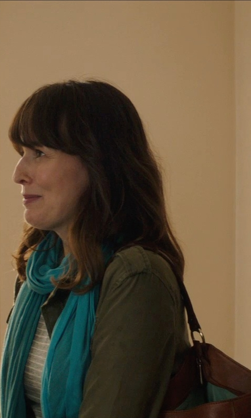 Rosemarie DeWitt with Kooba Leather 'Bedford' Flap Pocket Shoulder Bag in Poltergeist
