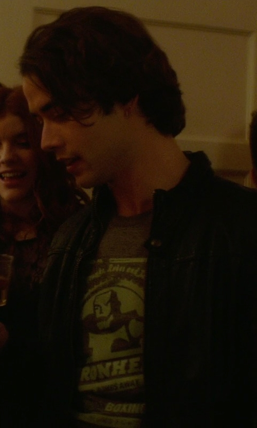 Jamie Blackley with Polo Ralph Lauren Custom Fit Flying Academy T Shirt in If I Stay