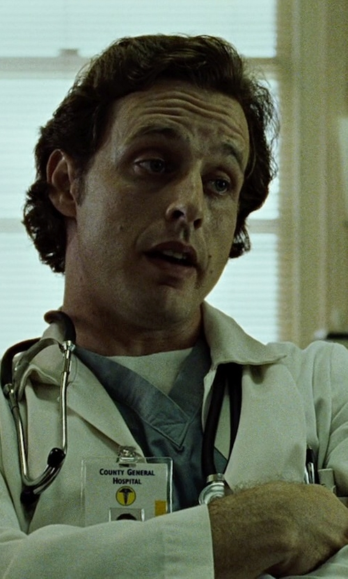 Richmond Arquette with Medline Unisex Knee Length Lab Coats in Fight Club