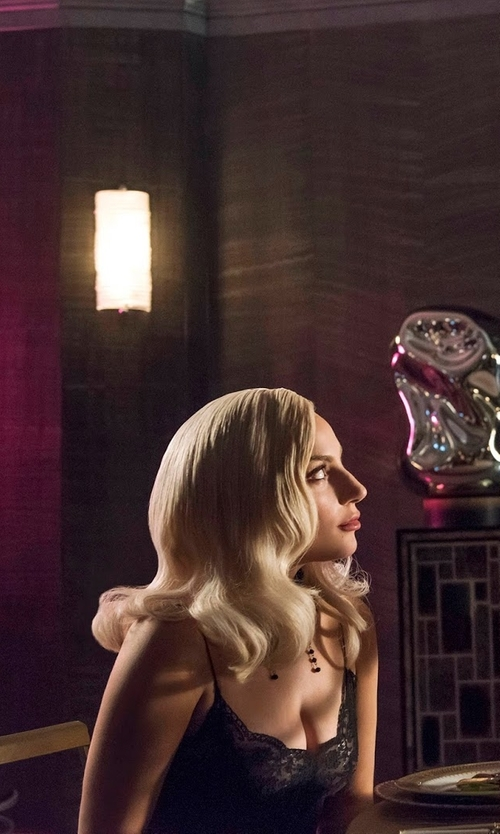 Lady Gaga with Self-Portrait Azaelea Lace Dress in American Horror Story