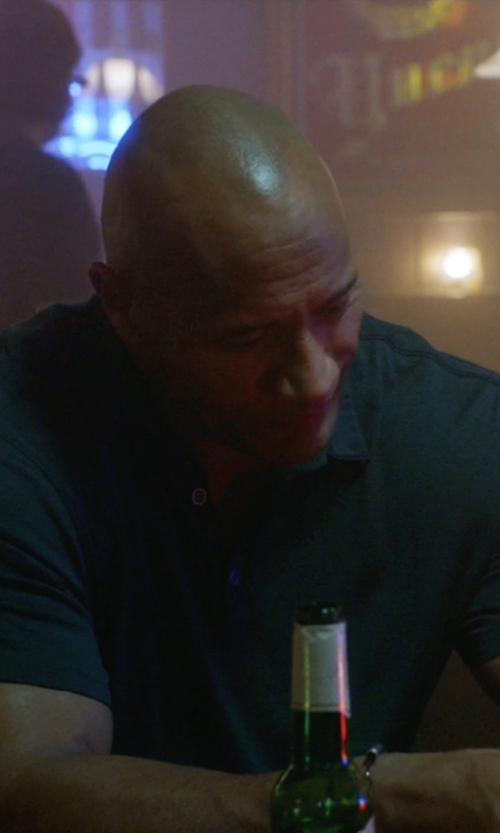 Dwayne Johnson with Armani Collezioni Trim Fit Polo Shirt in Ballers