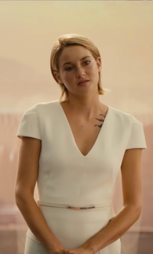 Shailene Woodley with Max Mara Eroico Short Sleeve Dress in The Divergent Series: Allegiant