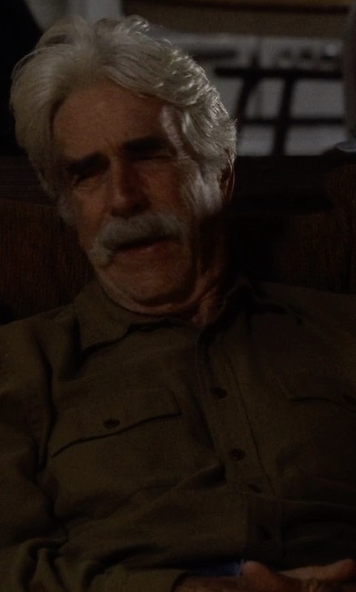 Sam Elliott with Polo Ralph Lauren Linen Utility Shirt in The Ranch