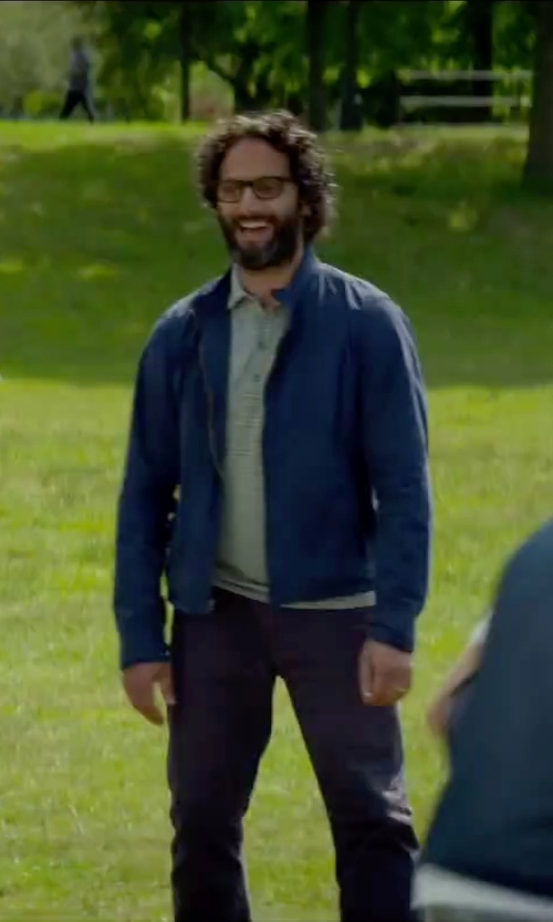 Jason Mantzoukas with Fred Perry Sailing Jacket in Sleeping with Other People