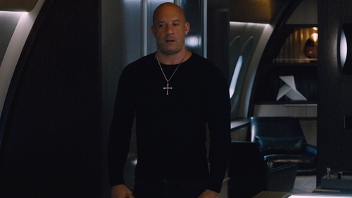 Vin Diesel with Polo Ralph Lauren Waffle-Knit Crewneck Thermal Shirt in The Fate of the Furious
