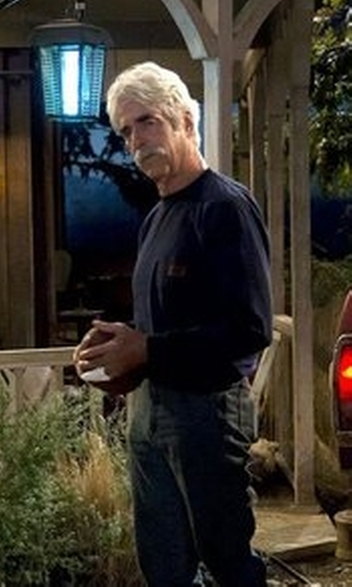 Sam Elliott with Carhartt Jersey Pocket Long-Sleeve T-Shirt in The Ranch