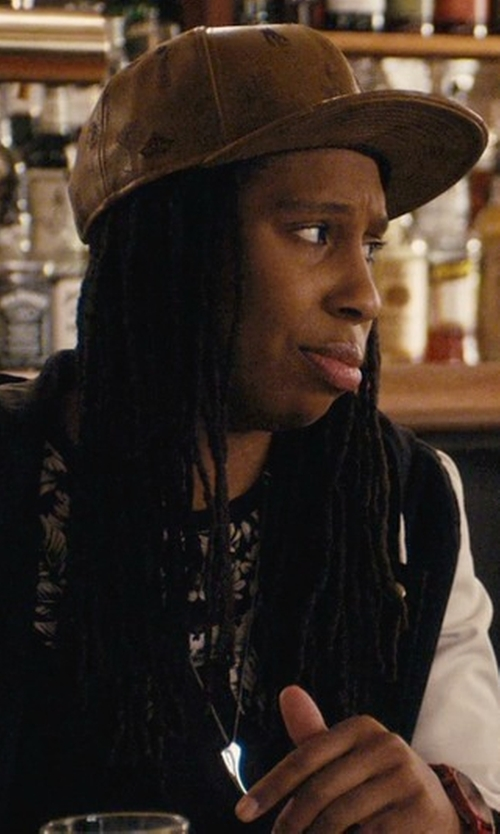 Lena Waithe with Emstate Genuine Cowhide Leather Baseball Cap in Master of None